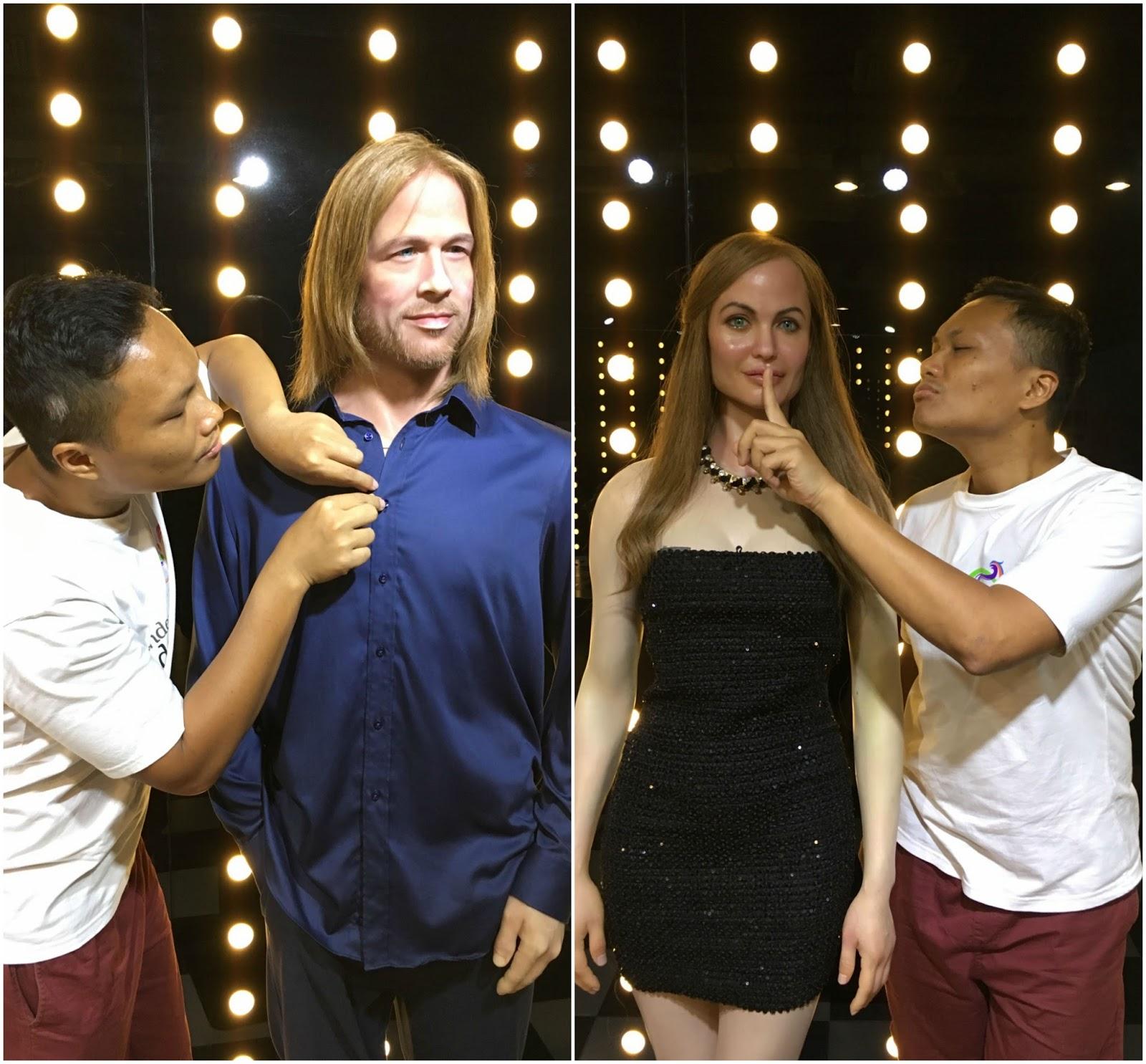 Brad Pitt dan Angelina Jolie di Museum Alive Stars Jakarta
