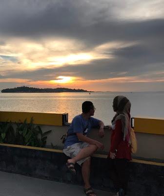 Sunset di Laman Boenda Tanjung PInang