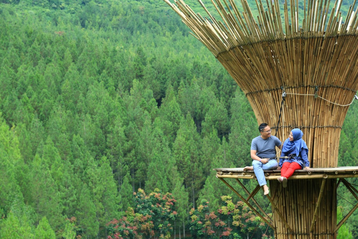 Bamboo Tower di The Lodge Bandung
