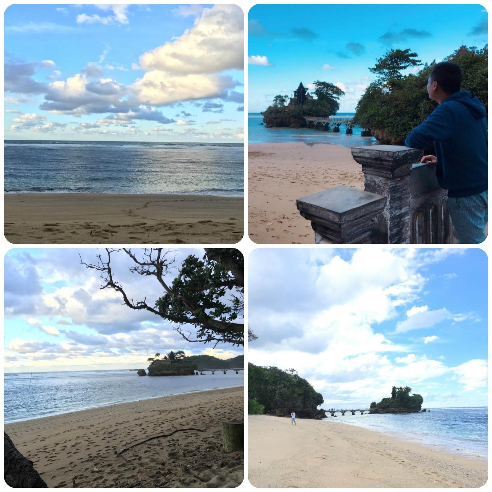 Panorama Pantai Bale Kambang di Malang