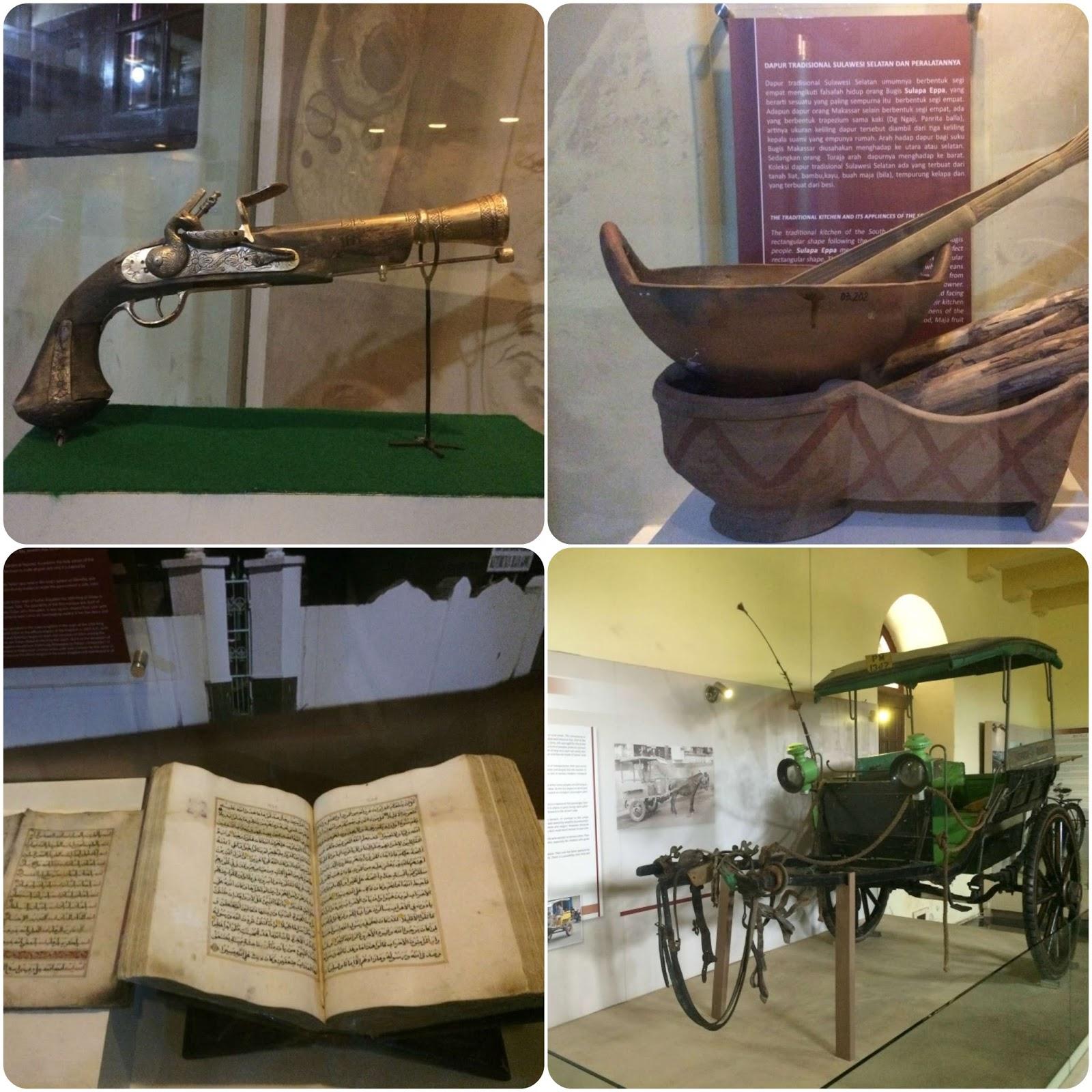 Koleksi Pistol hingga Dokar Lawas di Museum La Galigo