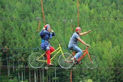 sepeda terbang dago dream park