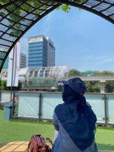 View stasiun LTR di Elarte Sport Cafe Jakarta