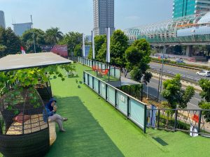 Suasana Elarte Sport Cafe Jakarta